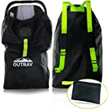 Car Seat Travel Bag with Backpack Straps – Protective Airport Approved Airplane Baggage Gate Check Luggage Storage Sack for T