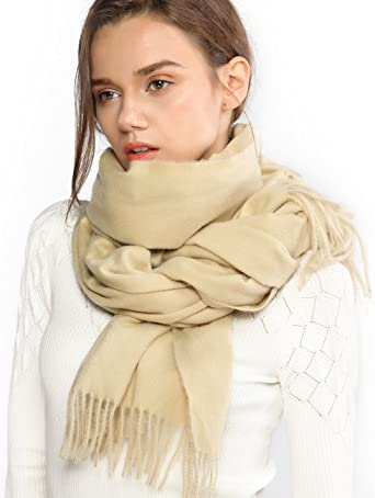 Women Scarf Wool Shawl Fashion Thicken Warm Wrap Printing Scarves And Stoles Soft Textured Winter