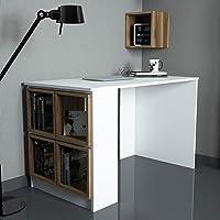 Variant Box Çalışma Masası (Beyaz/Ceviz (Kutu))
