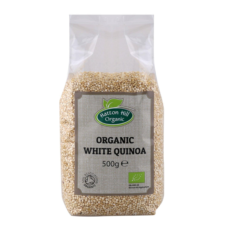 Organic White Quinoa 500g by Hatton Hill Organic - Free UK Delivery