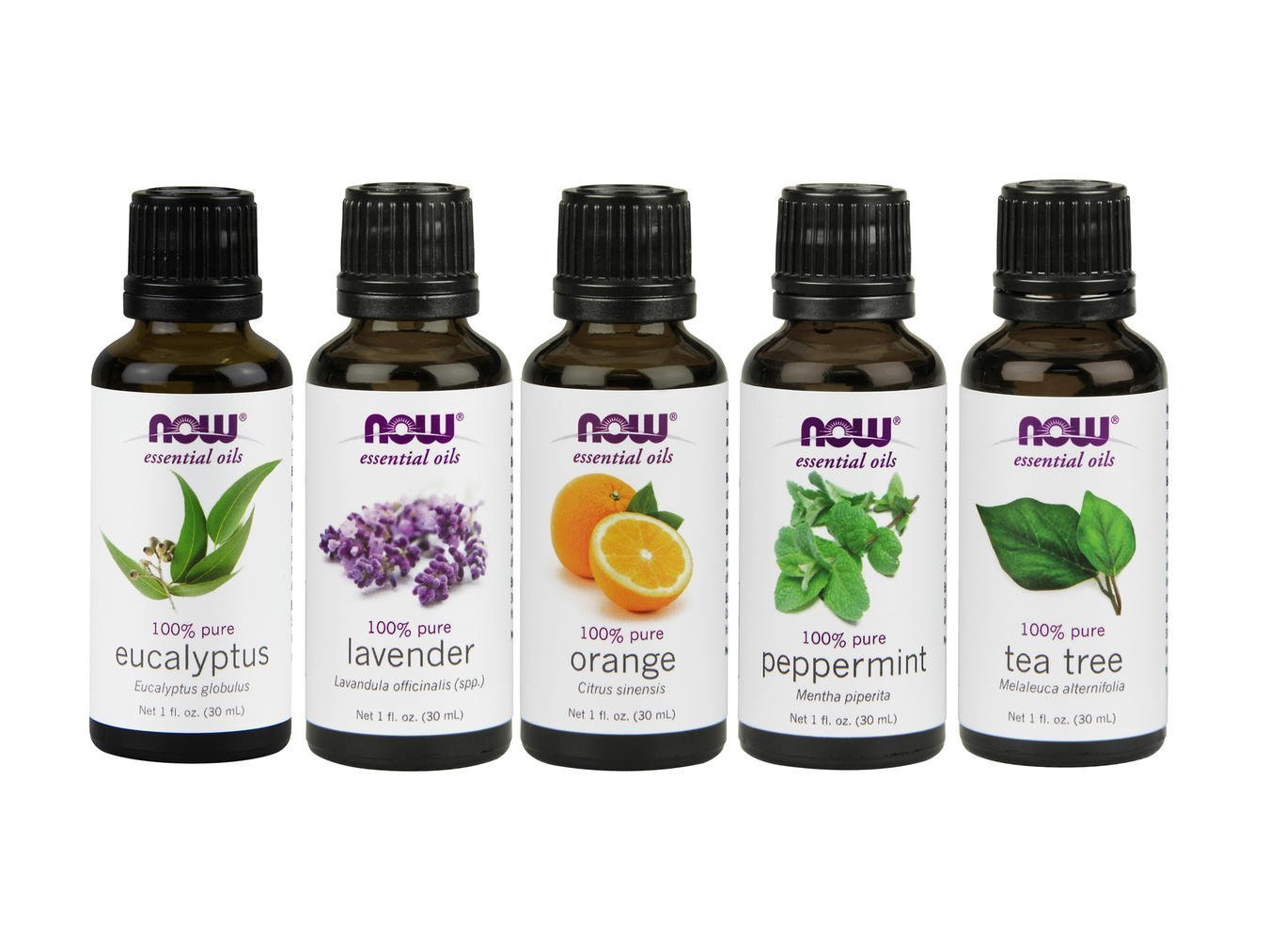 Now Foods Essential Oils 5-Pack Variety Sampler - 1oz each by NOW Foods