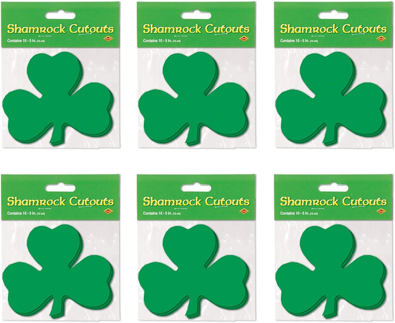 10 Pack Shamrock 5-Inch Cutouts