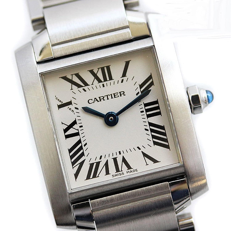 Cartier(カルティエ) タンクフランセーズ SM レディース腕時計 クォーツ 電池式 シルバー ステンレス アナログ アイボリー文字盤 W51008Q3 (中古) [並行輸入品] B06X9PWLFF