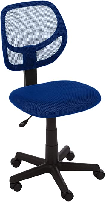 Amazon Com Amazonbasics Low Back Computer Task Office Desk Chair With Swivel Casters Blue Furniture Decor