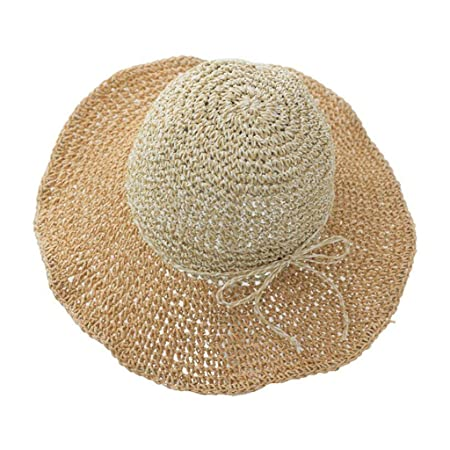d066eebfc1b957 MuMa Sun Hats Beach Hat Ms Summer Sun Protection Shade Straw Hat  Collapsible Travel Holiday (Color : ORANGE): Amazon.co.uk: Kitchen & Home