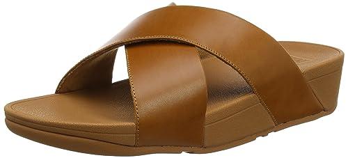 f696bb27e4bb19 Fitflop Women s Lulu Cross Slide Open Toe Sandals