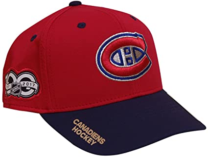 adidas Montreal Canadiens 100th Year Structured Flex Hat (Small Medium) 519a0c845714