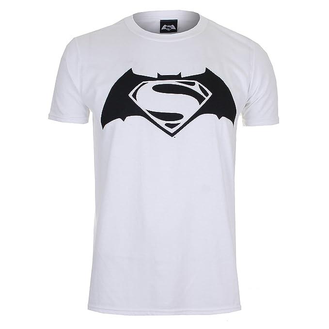 7ee51a5af DC Comics Camiseta Manga Corta Superman V Batman Logo Blanco 2XL  Amazon.es   Ropa y accesorios