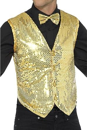 Sequin Waistcoat Men/'s Fancy Dress Costume