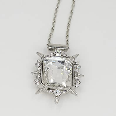 Amazon once upon a time glinda clear crystal pendant necklace amazon once upon a time glinda clear crystal pendant necklace good witch of the north wizard of oz snow white necklace jewelry aloadofball Image collections
