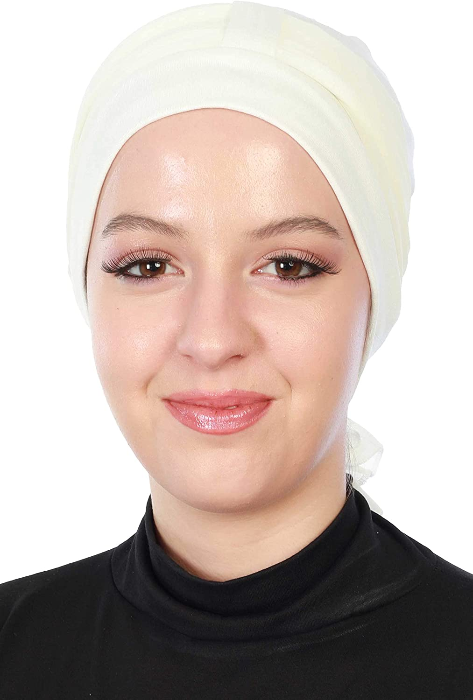 Instant Turban Cotton Head Wrap Lightweight Chemo Headwear Cancer Hats