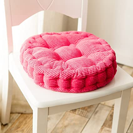 Swell Uther Thicken Round Seat Cushions Sofa Chair Pillow Cushion Chair Pads For Dining Chairs Floor Outdoor Rose Red 19X19 Inch Gmtry Best Dining Table And Chair Ideas Images Gmtryco