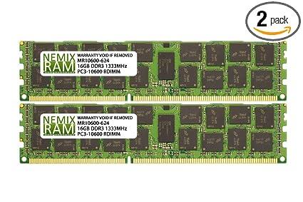 32G Micron 4X 8GB 2RX4 DDR3-1333 PC3L-10600R ECC REG-DIMM Memory ECC Server RAM