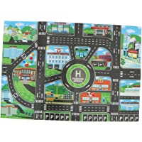 Flameer Kids Rug/Play Mat with City Traffic Roads Map for Cars & Train Game Toy - Children Play Carpet Boy Girl Nursery Playroom Play Mat #B