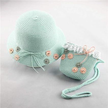 1b16a2596df Amazon.com  WEEKEND SHOP Small Fresh Child Straw Hat Baby Sun Hat ...