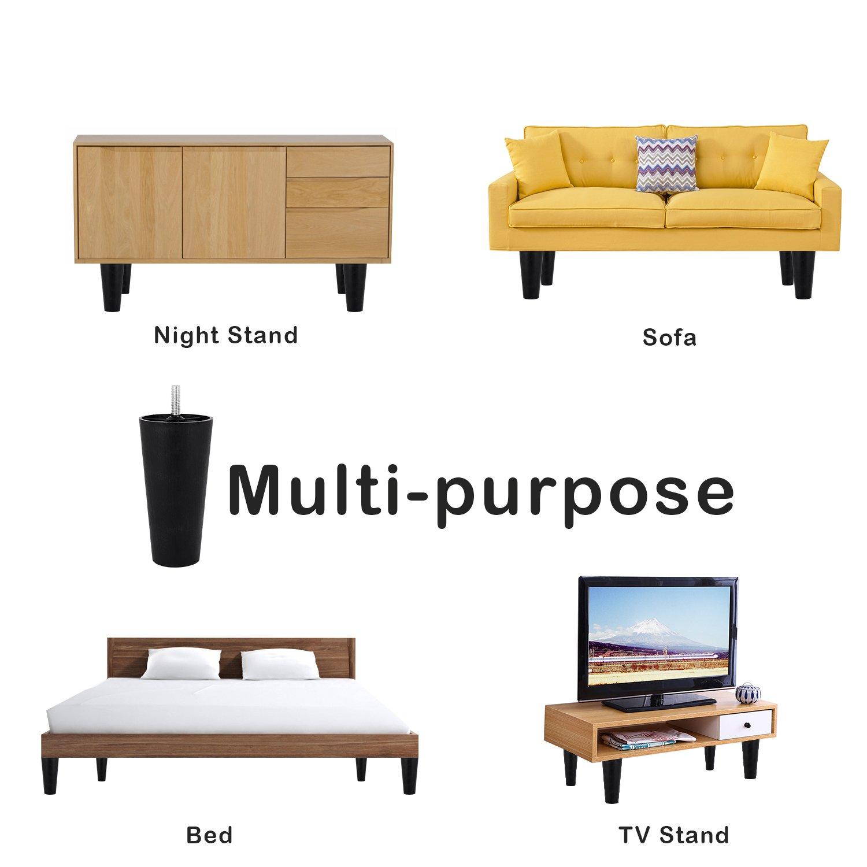 Pata de sofá, GLTECK de plástico estrecho sofá y silla de ...