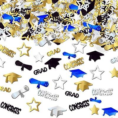 Jumbo Star Confetti with 2019 Confetti Mix for Table. Graduation Table Confetti