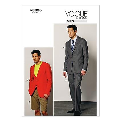 Amazon.com: VOGUE PATTERNS V8890 Men\'s Jacket/Shorts and Pants ...