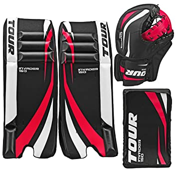 Tour Hockey Youth Invader 150 Hockey Goalie Pad Pack G105yp Black