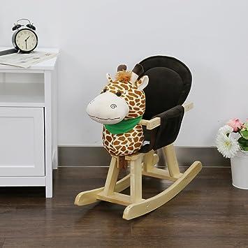 Peach Tree Baby Kids Toy Plush Wooden Rocking Horse For Childrenu0027s Day Gift  Rocking Horse Birthday