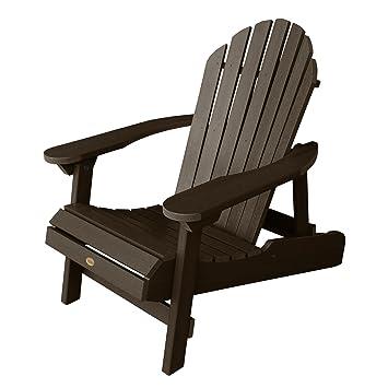 Highwood Hamilton Folding And Reclining Adirondack Chair, Adult Size,  Weathered Acorn