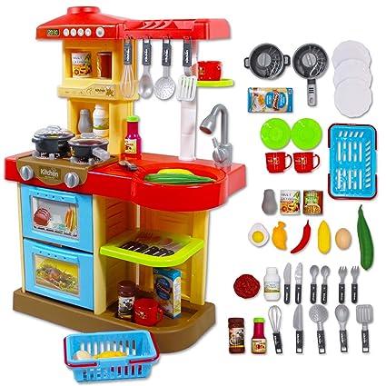 Cocinita IncluidosColor Mi Little Con Deao Rojo De Chef 30 Accesorios Juguete F1TKJ3cl