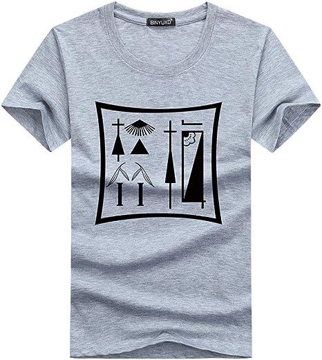 NJKHN Camiseta De Hombre Las Camisetas Son Camisas De Algodón Estampadas para Hombres Camisas Delgadas para Hombres Camisas Informales De Verano para Niños Camisas Juveniles: Amazon.es: Deportes y aire libre