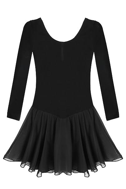 1708a8ffcc69 Amazon.com  Arshiner Girls Kids Classic Long Sleeve Leotard Dance ...