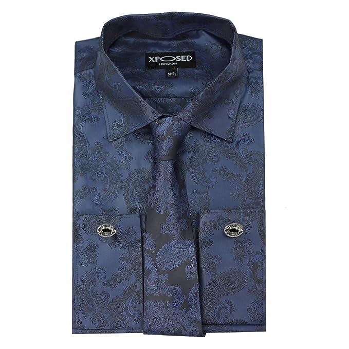 Xposed - Camisa de Vestir - Paisley - para Hombre: Amazon.es: Ropa ...