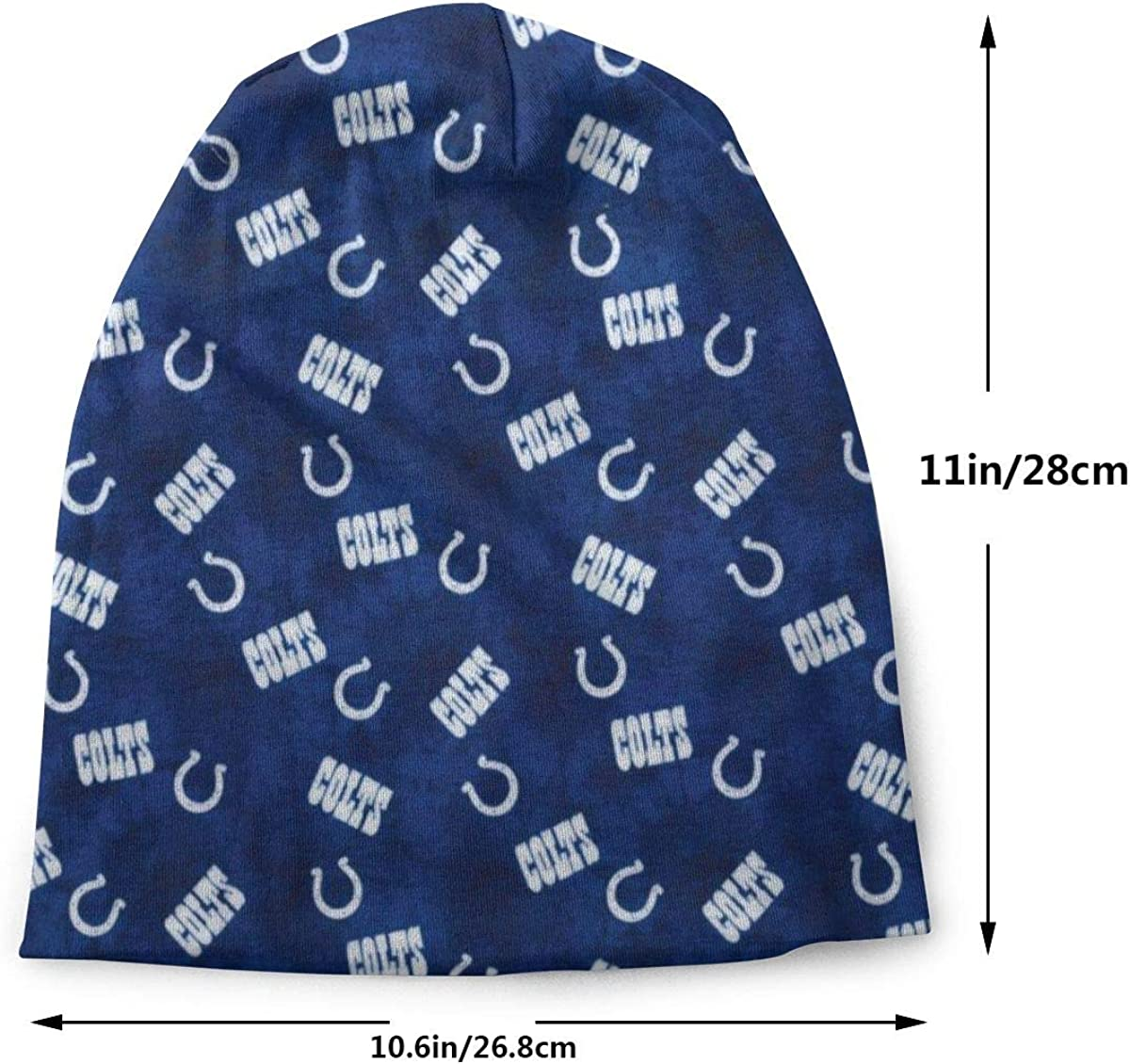 Oryee Slouchy Beanie American Football Team Knit Hat Full Print Skull Cap for Unisex Adult