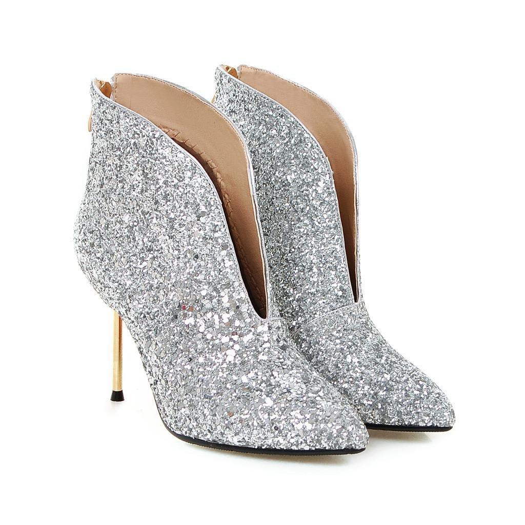 Damen Stiefeletten Stilett High Heel Schuhe Neue Neue Neue Mode Spitze Pailletten Frühling Herbst Winter Abend Nachtclub B076SR58ZS Tanzschuhe Neues Produkt eff211
