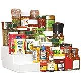 Disha Pebbleyard Plastic Cupboard Space Organizer, Standard (Set Of 2)