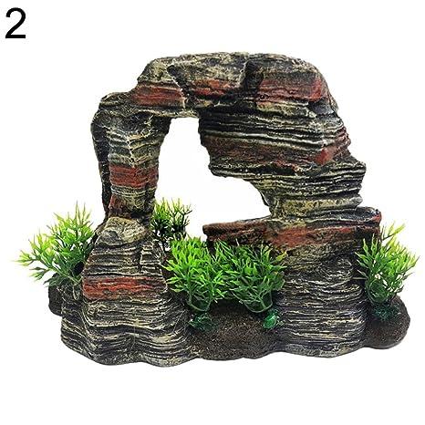 Greenlans Adorno para acuario, acuario, acuario, pecera, resina, paisaje artificial,