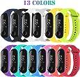 Madozon 13 Piezas Pulsera Xiaomi Mi Band 3 Correas Reloj Silicona Banda para XIAOMI Mi Band 3 Reemplazo - 13 Colores