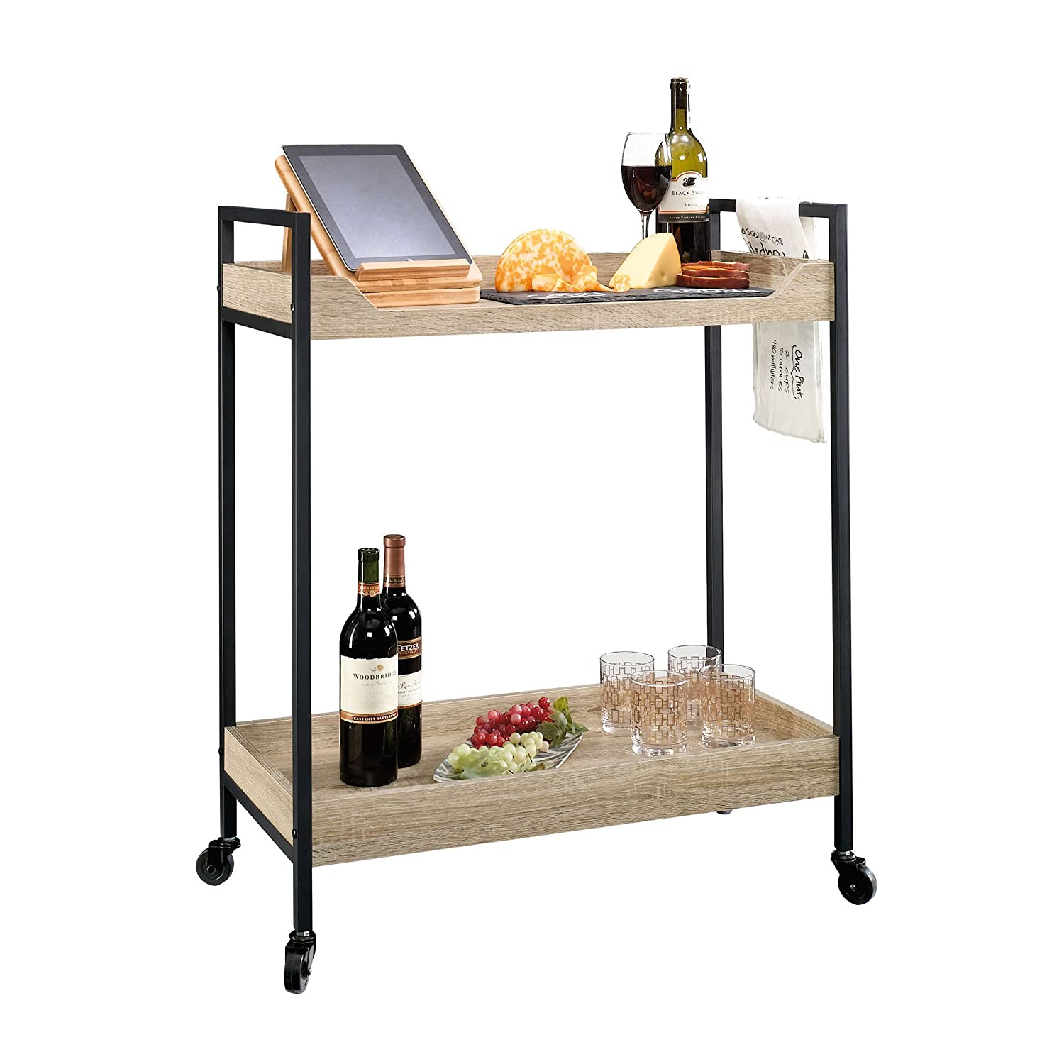 Sauder 420043, Bar North Avenue Cart, Craftsman Oak Sauder Woodworking