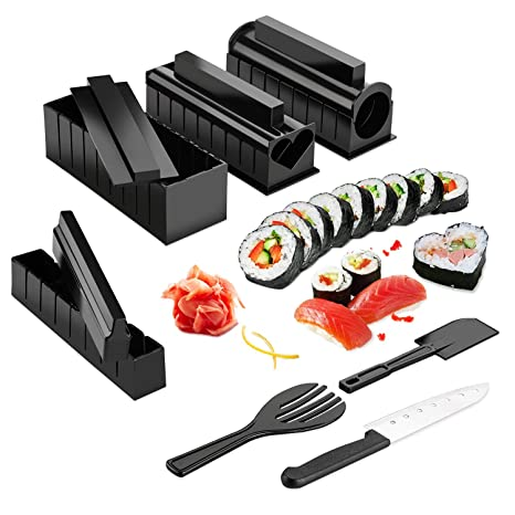 Sushi Making Kit - ISFORU Sushi Maker with Sushi Knife 11 Piece DIY Sushi  Set - Easy and Fun - Sushi Rolls - Maki Rolls