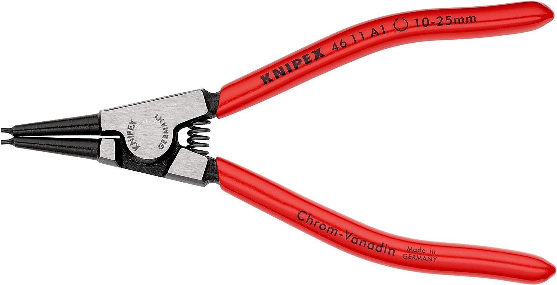 KNIPEX 46 11 A1 Alicate para arandelas para arandelas exteriores en ejes negro atramentado recubiertos de plástico 140 mm: Amazon.es: Bricolaje y herramientas