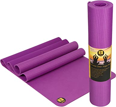 Premium Quality Non-Slip Open-Cell Natural Rubber Yoga Mat ✮ Unbelievable Grip Also When Wet! ✮ Extremely Comfortable ✮ Extra Long & 5mm Thick ✮ ...