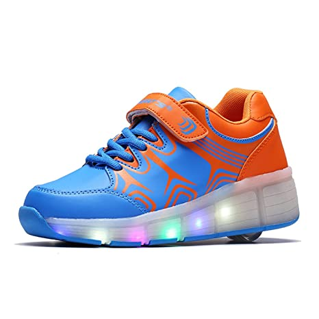 8491981868c2 lily999 Unisex Scarpe con Ruote Skateboard per bambini ragazzi delle  ragazze LED luci suola brillante Sport