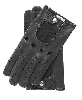 3e2901b96 Fratelli Orsini Men's Italian Lambskin Leather Driving Gloves Size 7 Color  Black