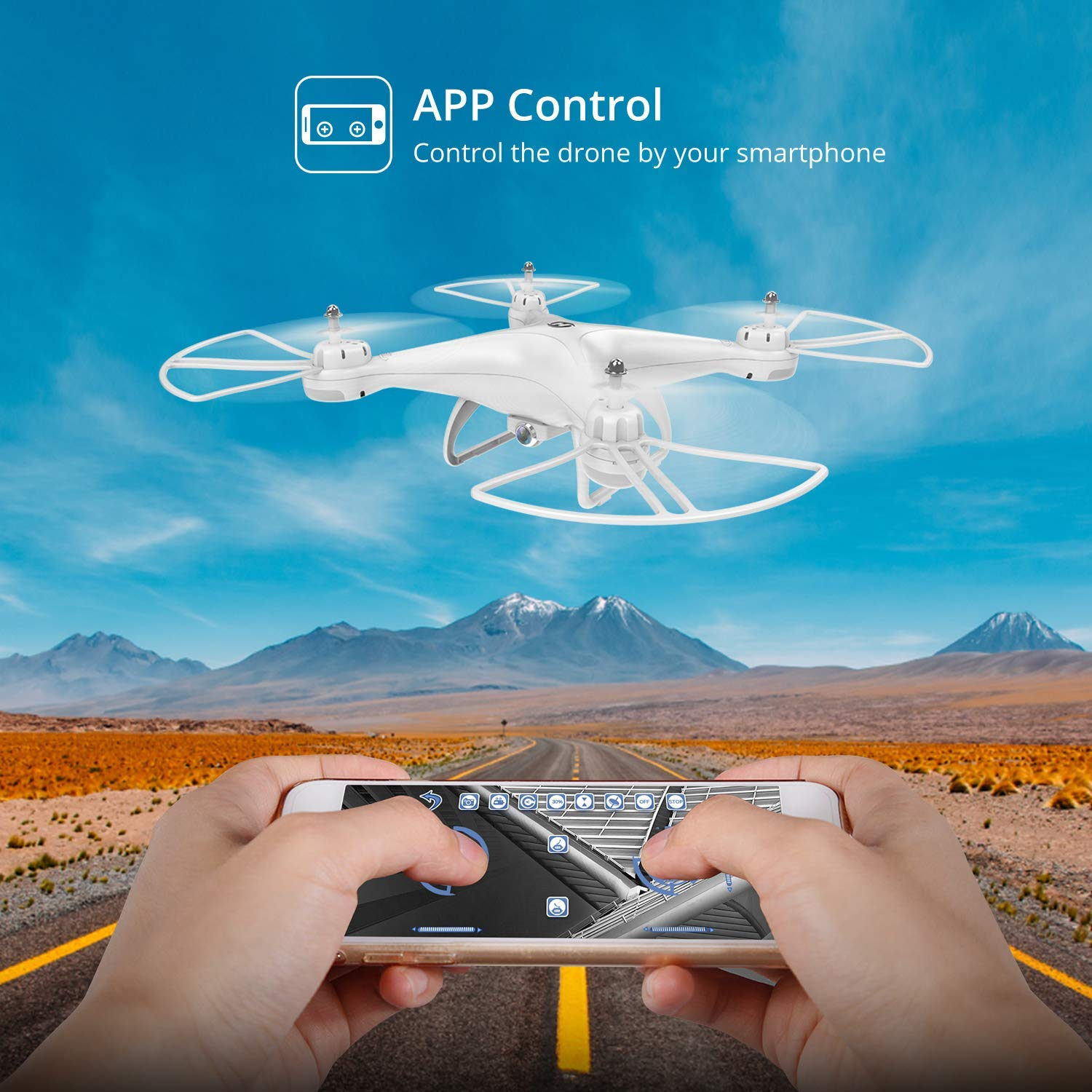 Holy Stone Drone with Camera for Adults Kids - FPV Drones with 720P HD 120° FOV Camera RC Quadcopter Remote Control Helicopter with Altitude Hold, Headless Mode and 3D Flips by Holy Stone (Image #4)