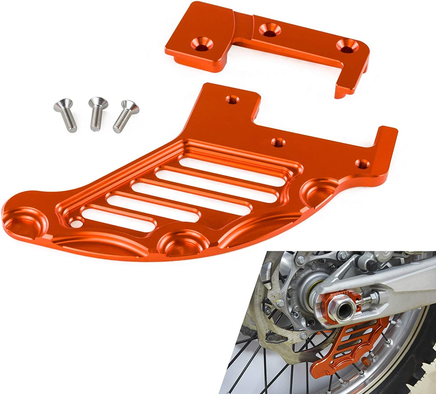 CNC Rear Brake Disc Guard Protect For KTM 150 200 250 300 400 450 500 530 XCW