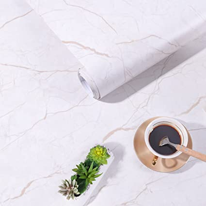 Marble Contact Paper Film Peel And Stick Countertops Vinyl Wallpaper Sticker,  Authentic Marble Look,