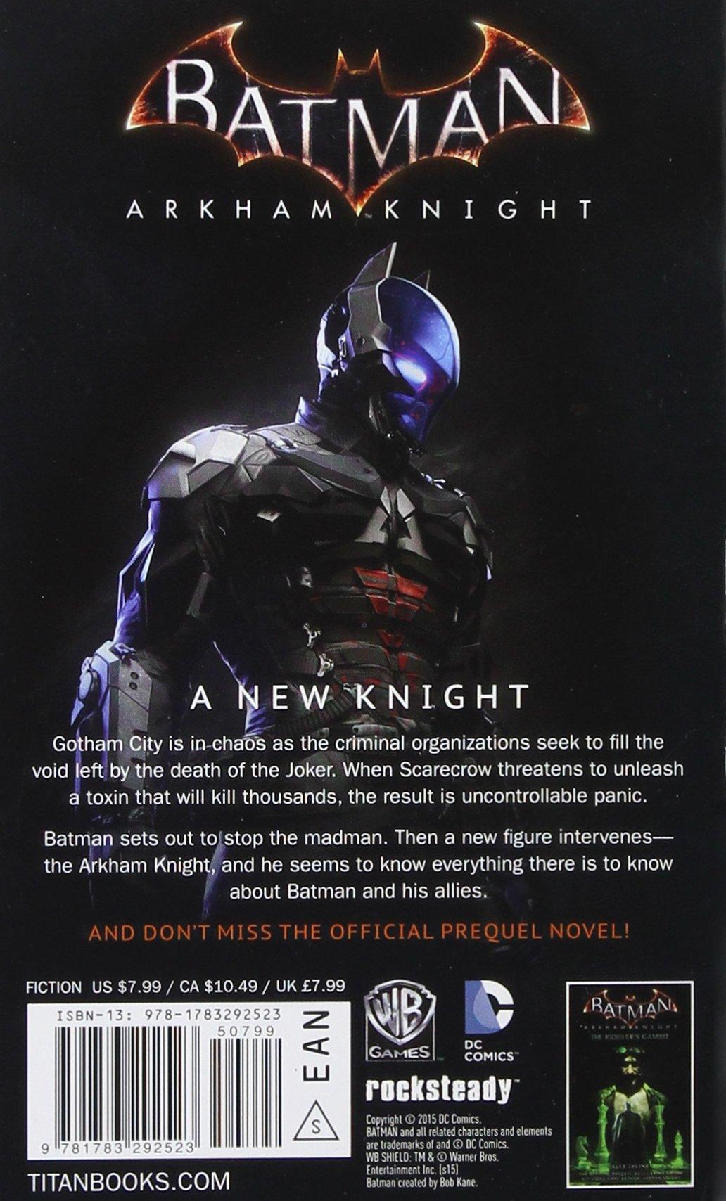 Amazon Batman Arkham Knight The Official Novelization 9781783292523 Marv Wolfman Books