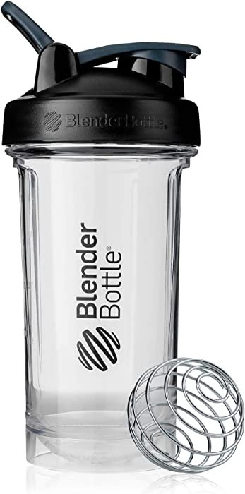 BlenderBottle Pro Series Shaker Bottle, 24-Ounce, Black/Clear