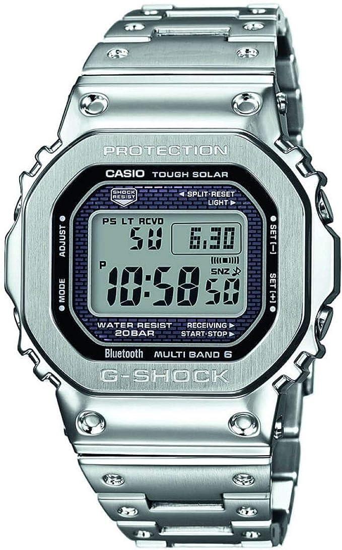 Casio Reloj Digital para Hombre de Cuarzo con Correa en Acero Inoxidable GMW-B5000D-1ER: Amazon.es: Relojes