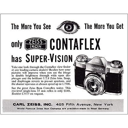 Amazon com: RelicPaper 1957 Zeiss Ikon Contaflex: The More