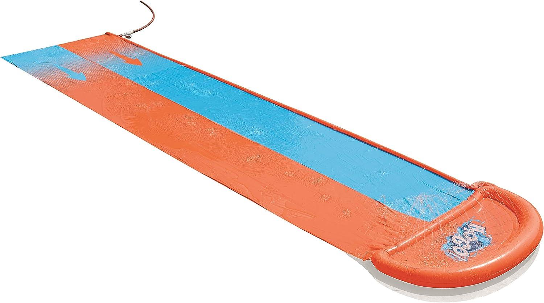 Pista Deslizante Hinchable Bestway H2O Go! Doble Naranja/Azul 549 cm