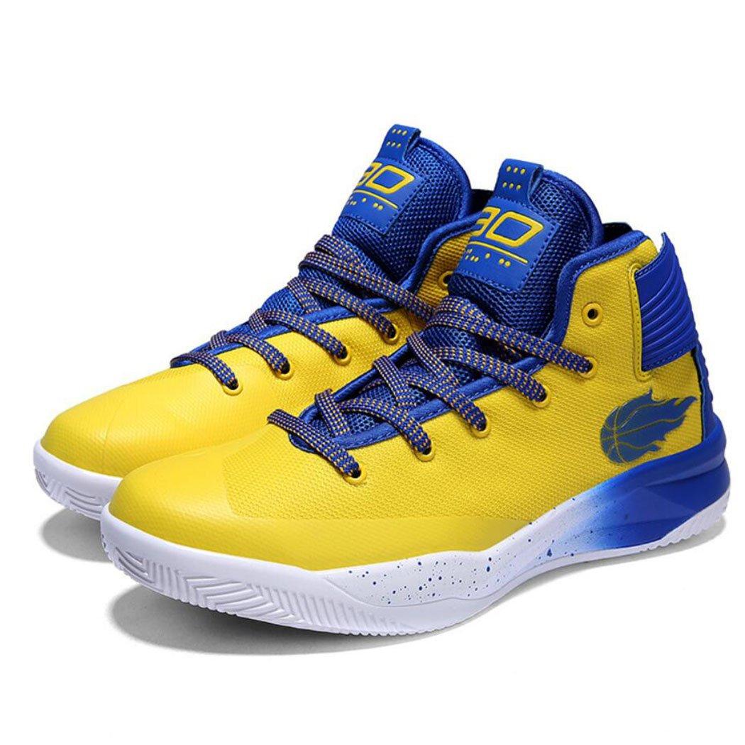 GAOLIXIA Mallas de baloncesto de los pares de los hombres Zapatillas de deporte antideslizantes de verano Zapatos casuales Unisex Zapatillas de deporte Competición atlética Zapatillas de deporte ( Color : Amarillo , tamaño : 38 ) 38|A