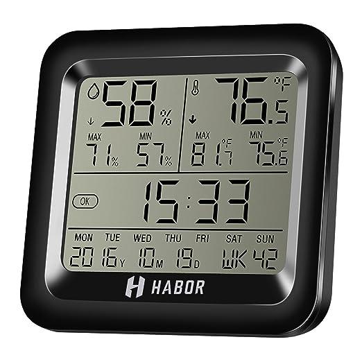 4 opinioni per Habor Igrometro Termometro Digitale